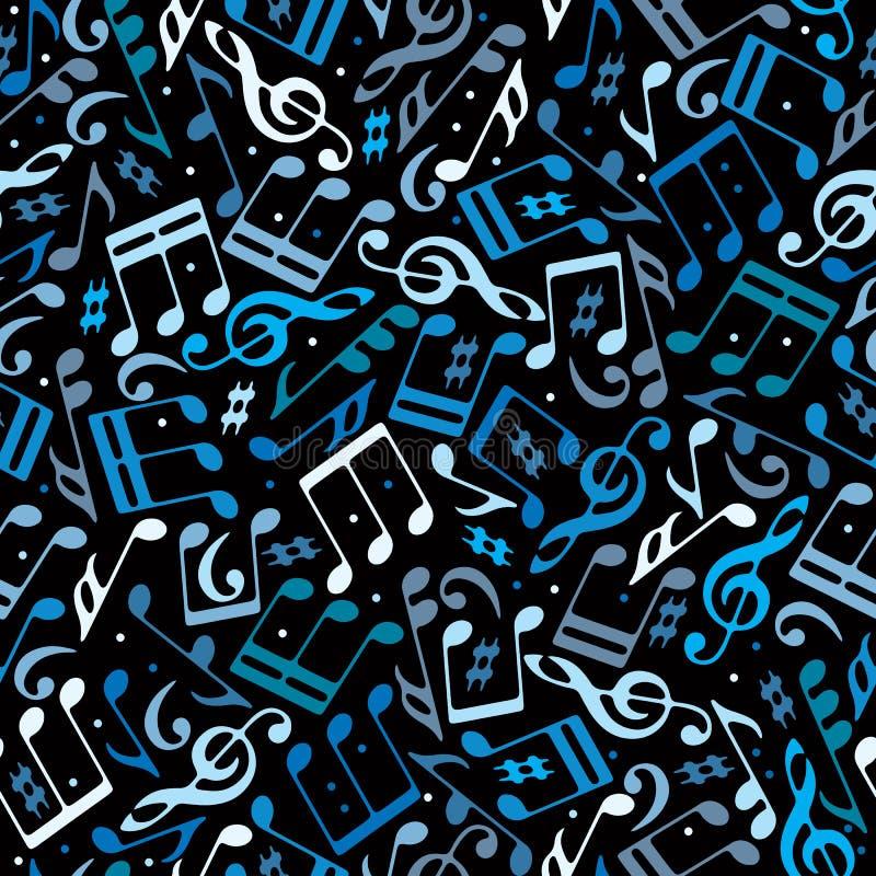 Modelo inconsútil punteado colorido de la música del vector ilustración del vector
