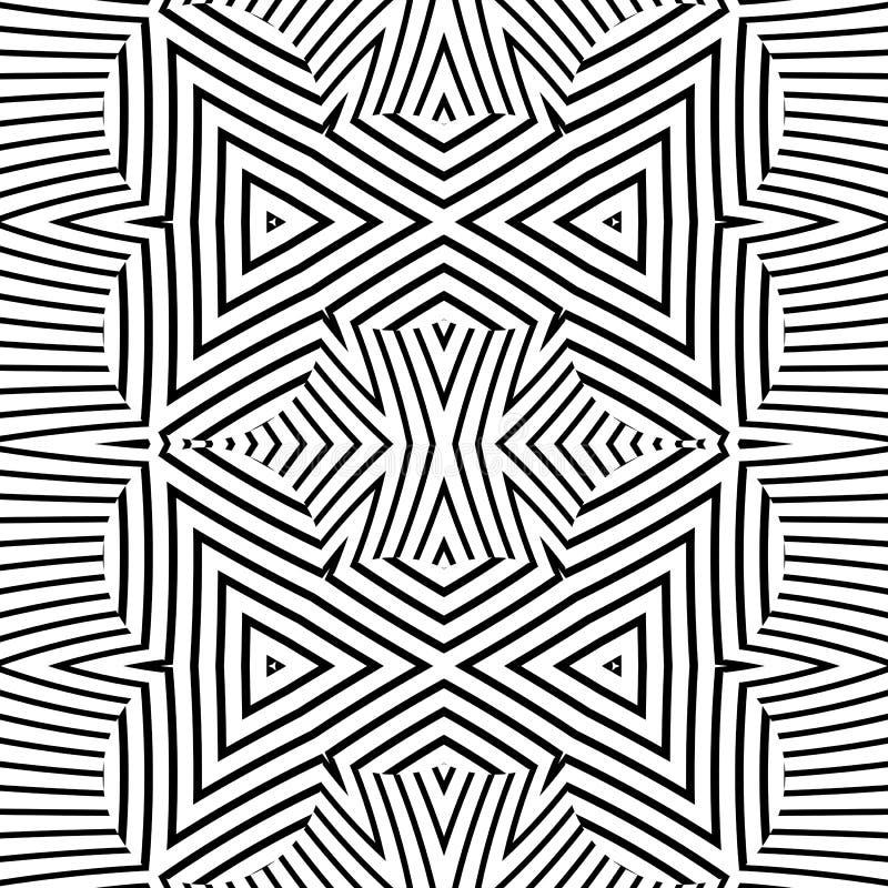 Modelo inconsútil rayado del deco del extracto óptico del arte ilustración del vector