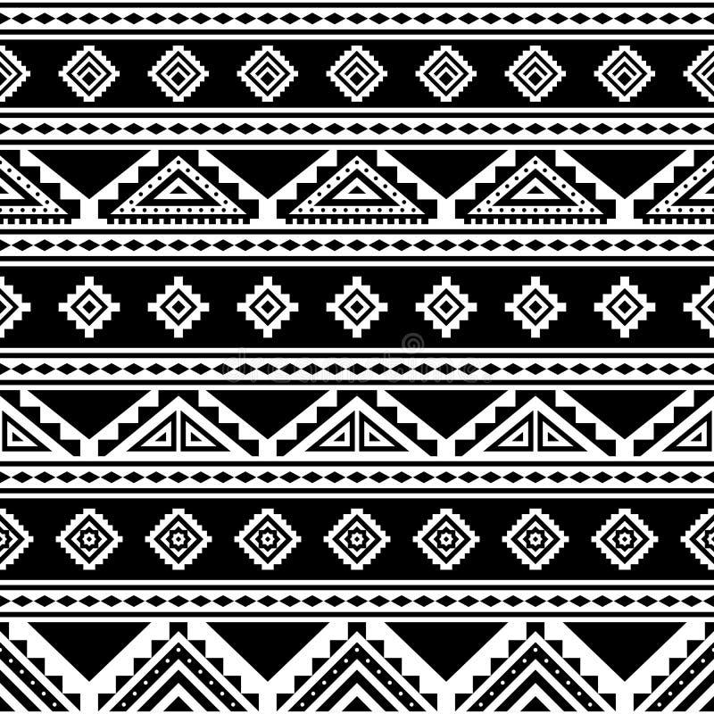 Modelo inconsútil rayado geométrico tribal stock de ilustración