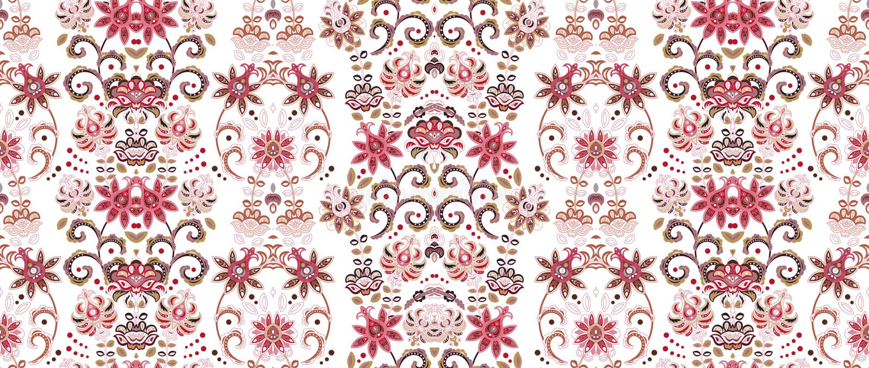 Modelo inconsútil rayado Papel pintado floral Frontera ornamental colorida libre illustration