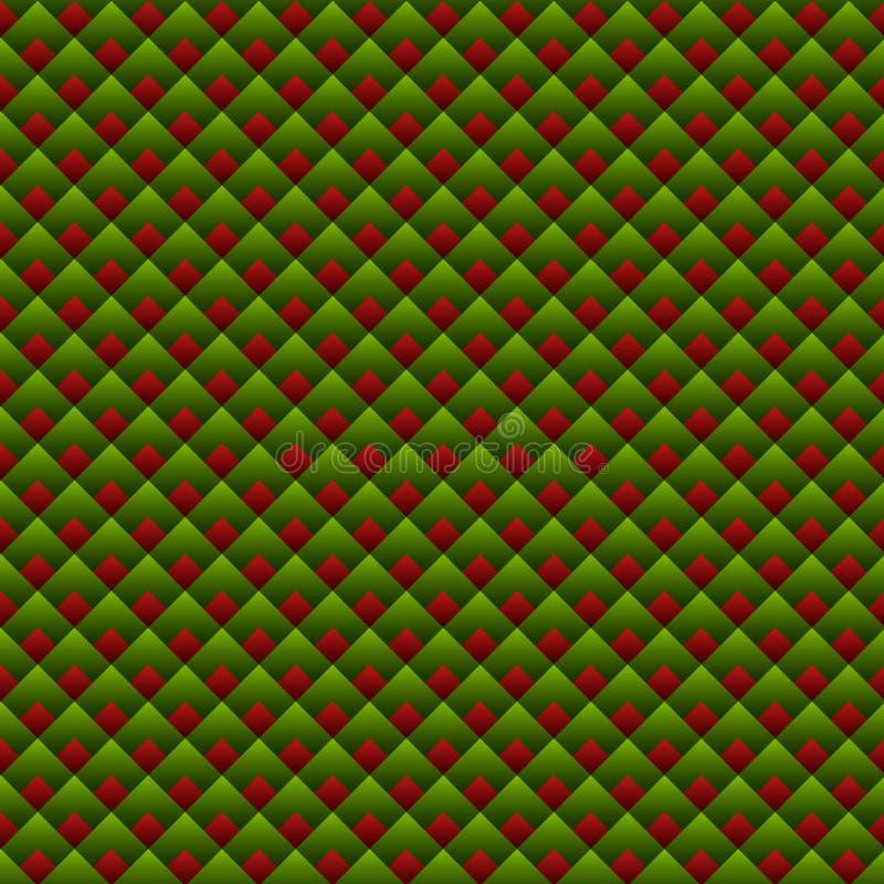 Modelo inconsútil rojo de la Navidad y verde geométrico ilustración del vector