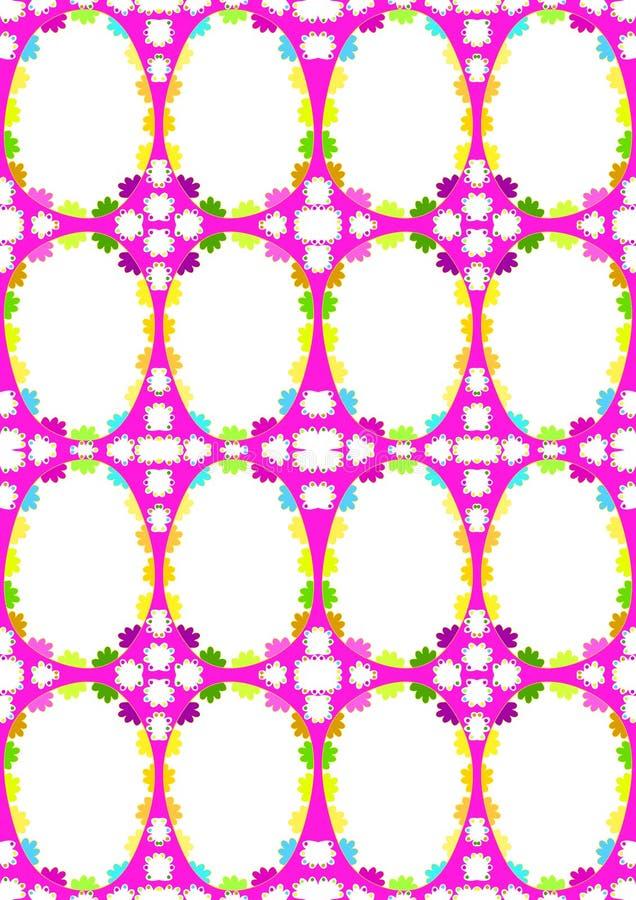Modelo inconsútil rosado de los huevos de Pascua stock de ilustración