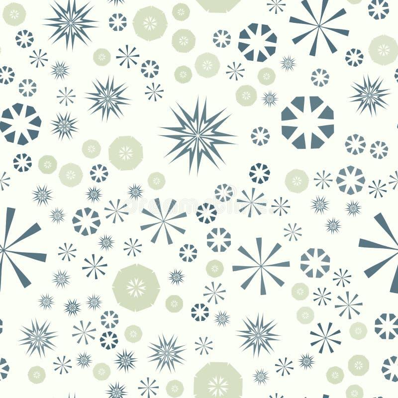 Modelo inconsútil simple abstracto para el diseño Fondo del vector con las estrellas y las flores geométricas Colorido circular ilustración del vector