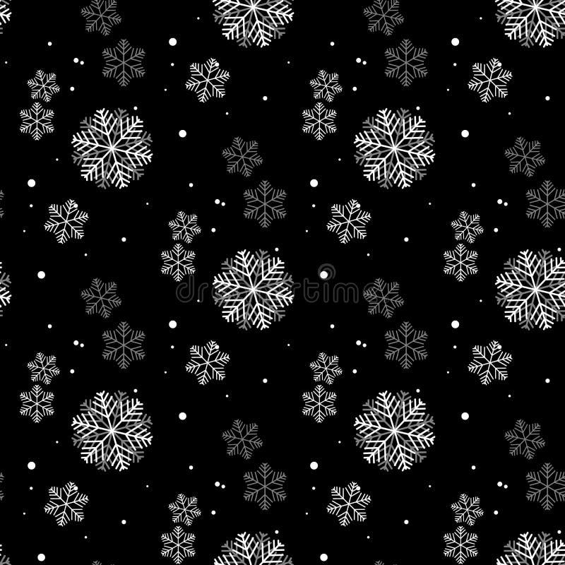 Modelo inconsútil simple del copo de nieve Papel pintado abstracto, envolviendo la decoración Símbolo del invierno, día de fiesta stock de ilustración