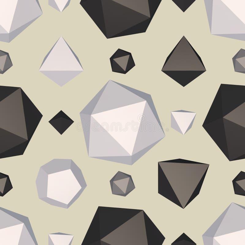 Modelo inconsútil superficial del polígono stock de ilustración