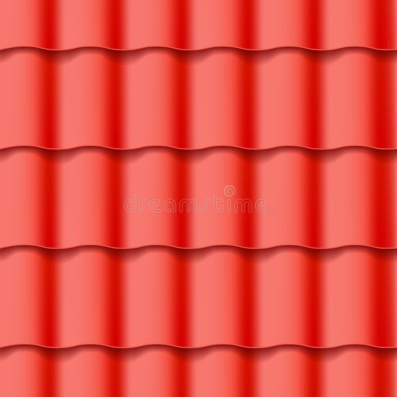 Modelo inconsútil tejado del tejado stock de ilustración