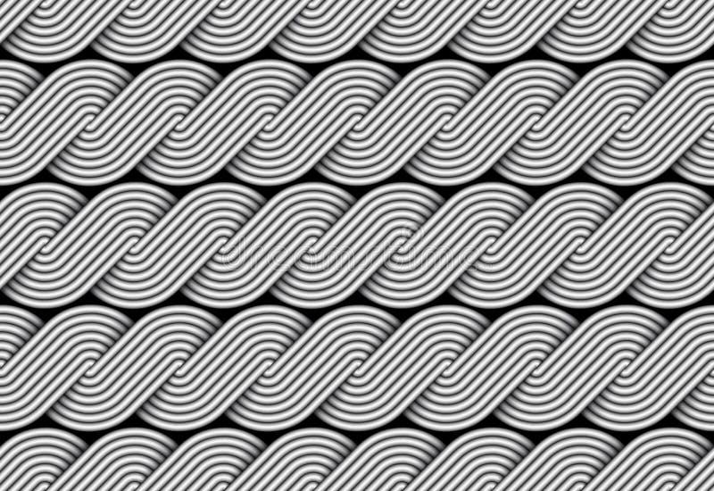 Modelo inconsútil trenzado vector de la fibra de la vuelta ilustración del vector