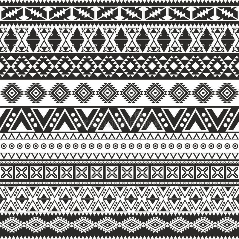 Modelo inconsútil tribal ilustración del vector
