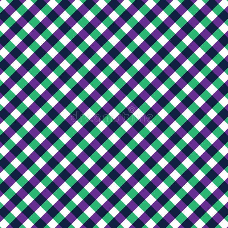 Modelo inconsútil verde y púrpura de la materia textil imagenes de archivo