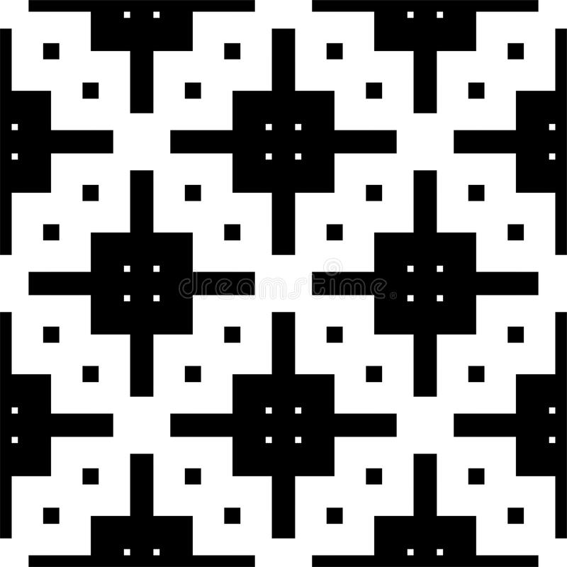 Modelo inconsútil y geométrico blanco y negro libre illustration