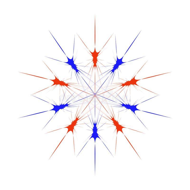 Modelo incons?til abstracto con las estrellas Ilustraci?n colorida del vector libre illustration