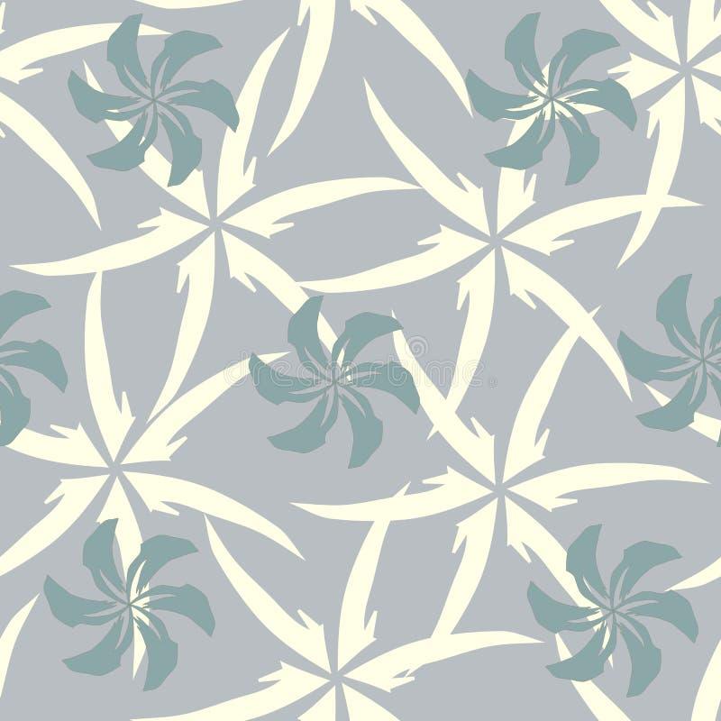 Modelo incons?til abstracto para la tela Ornamento de modelos en un fondo gris Textura antigua del vintage stock de ilustración