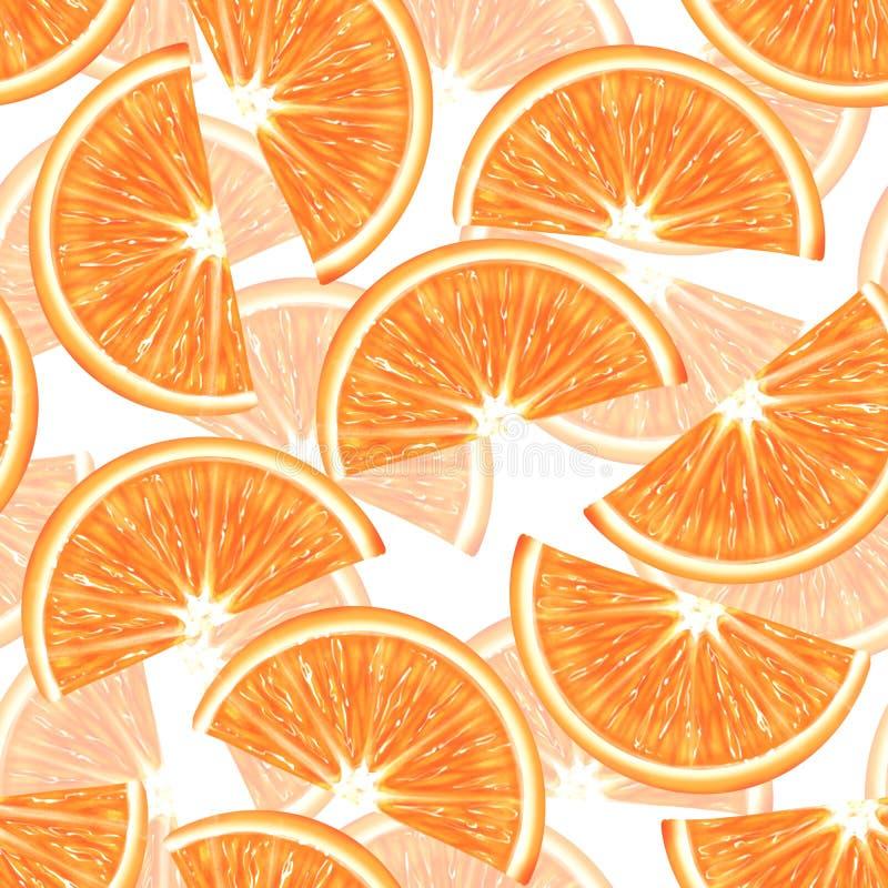 Modelo incons?til anaranjado cortado ilustración del vector