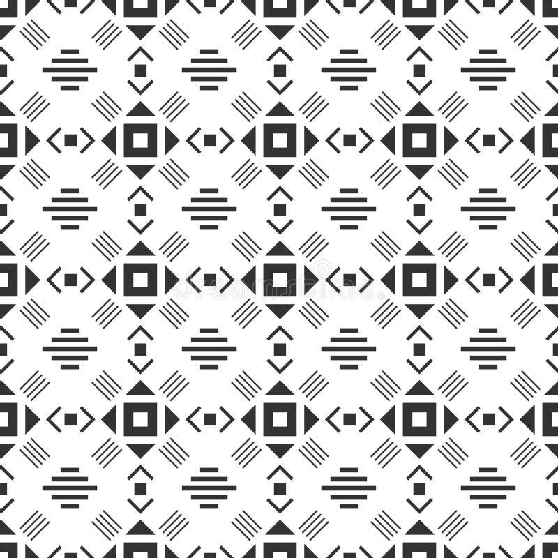 Modelo incons?til blanco y negro Fondo geométrico abstracto azteca Estilo étnico del inconformista libre illustration