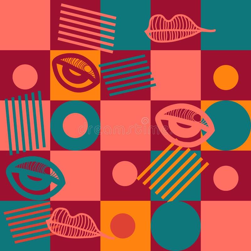 Modelo incons?til colorido geom?trico Fondo abstracto de la composición de la forma para las cubiertas, los carteles, los aviador ilustración del vector