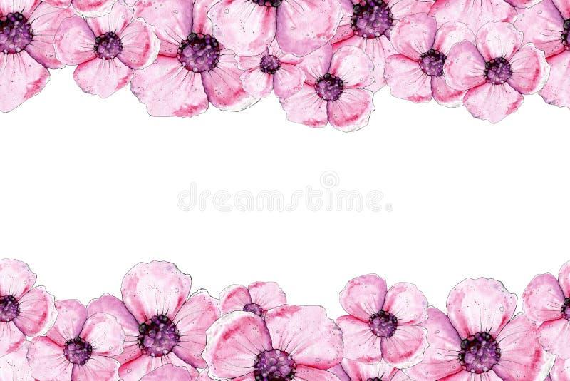 Modelo incons?til con las flores de la amapola Diseño de fondos, modelos, empaquetando, tela, papel pintado, envolturas, lecho ilustración del vector
