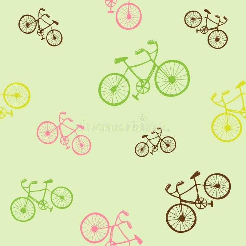 Modelo incons?til de la bici Ejemplo del vector para el dise?o del transporte de la bicicleta Modelo brillante del veh?culo Silue stock de ilustración