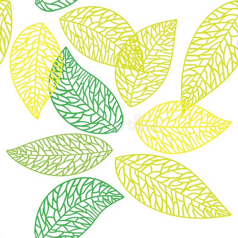 Modelo incons?til de la hoja linda del vector Impresi?n abstracta con las hojas Ornamento hermoso elegante de la naturaleza para  stock de ilustración