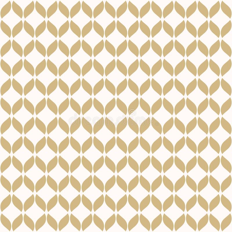 Modelo incons?til de la malla de oro del vector Oro simple y textura geom?trica blanca stock de ilustración