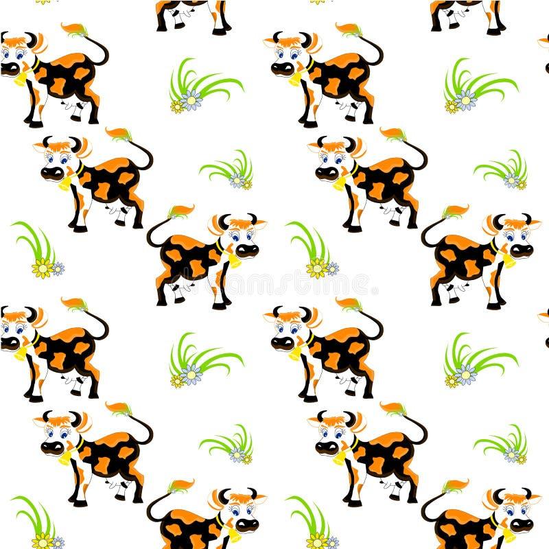 Modelo incons?til de la vaca Animal del campo lindo de las historietas libre illustration