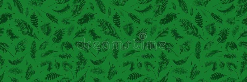 Modelo incons?til de las hojas tropicales en fondo verde Papel pintado ex?tico