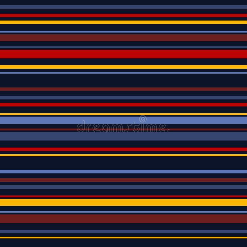 Modelo incons?til de las rayas horizontales Líneas coloridas fondo del vector simple ilustración del vector