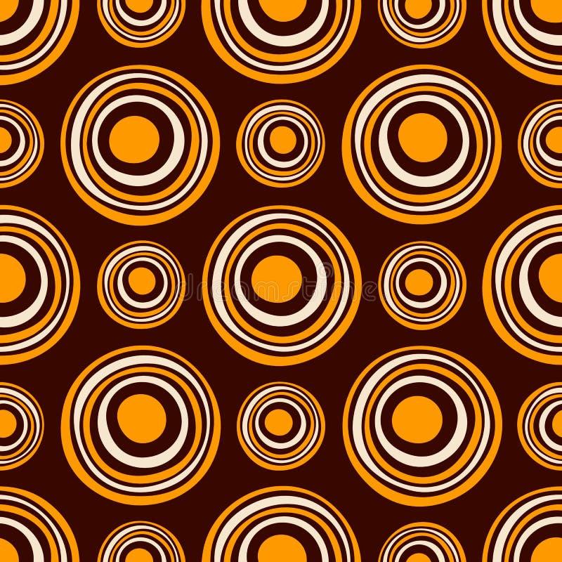 Modelo incons?til de los c?rculos asim?tricos abstractos Ornamento aborigen australiano Ilustraci?n de color del vector stock de ilustración