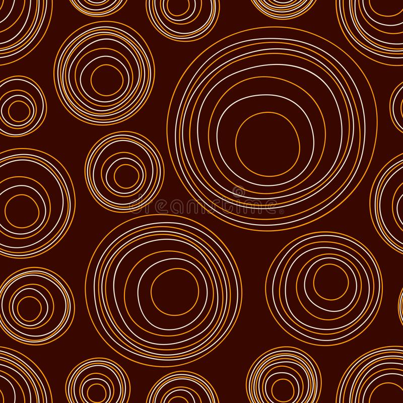 Modelo incons?til de los c?rculos asim?tricos abstractos Ornamento aborigen australiano Ilustraci?n de color del vector libre illustration