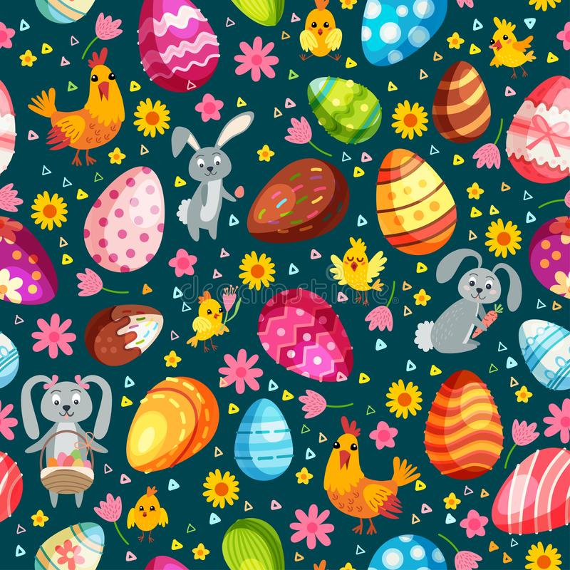 Modelo incons?til de los huevos de Pascua Fondo del vintage del día de fiesta libre illustration