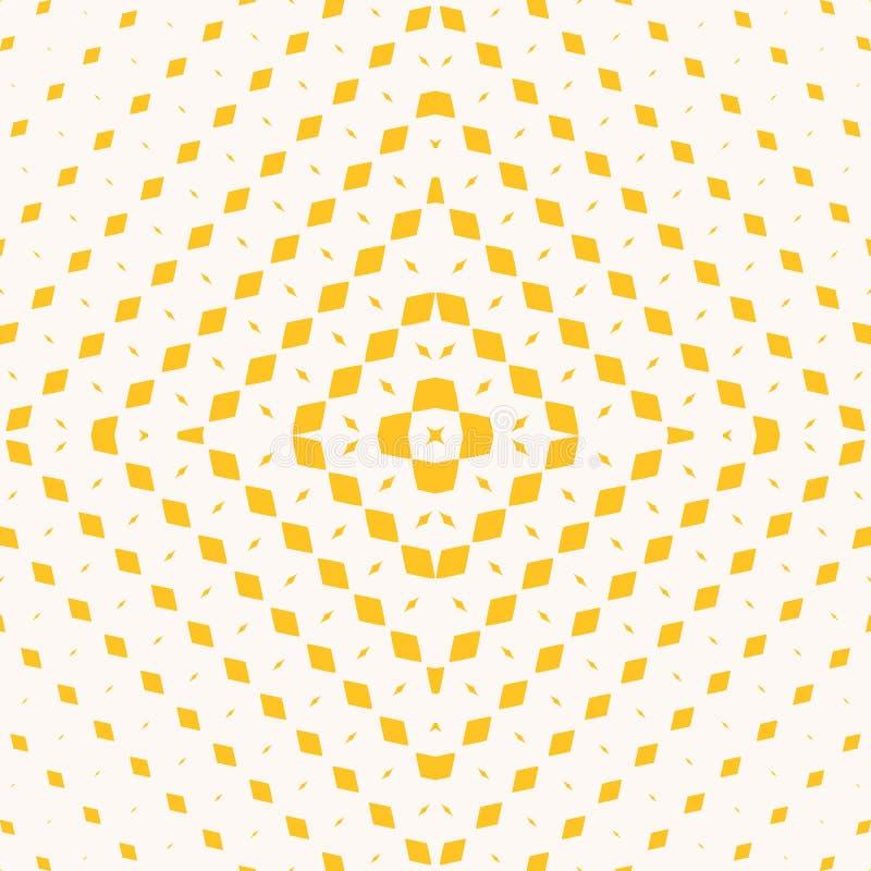 Modelo incons?til de semitono geom?trico amarillo con los peque?os Rhombus en forma cuadrada stock de ilustración