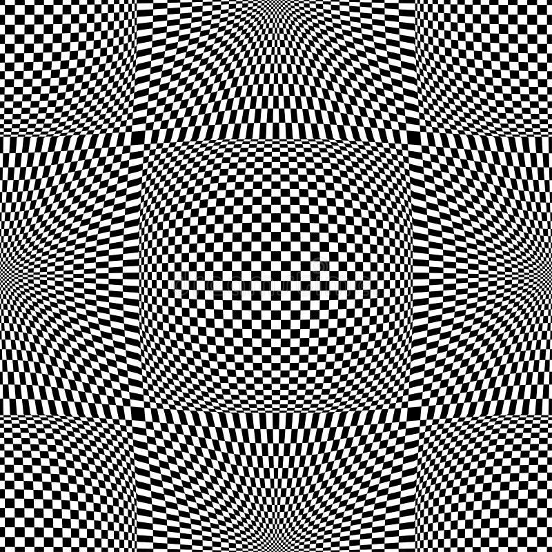 Modelo incons?til del arte de Op. Sys. del vector abstracto Ornamento gr?fico monocrom?tico ilustración del vector