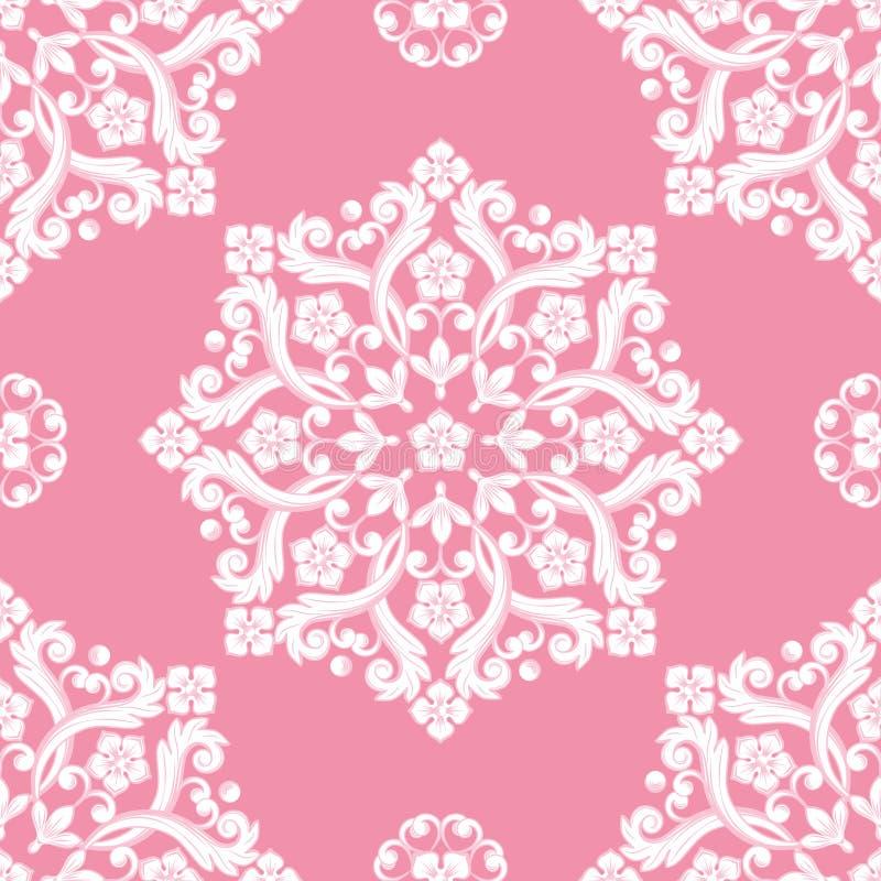 Modelo incons?til del damasco Textura rosada Ilustraci?n del vector libre illustration