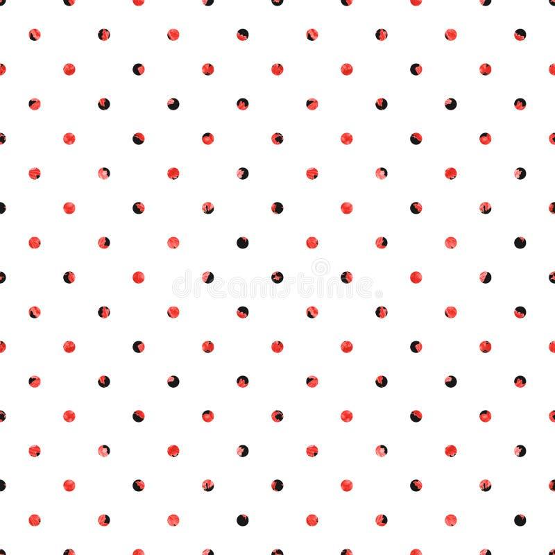 Modelo incons?til del lunar Fondo blanco con los círculos negros y rojos libre illustration