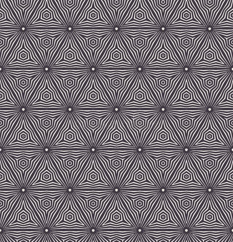 Modelo incons?til del vector Forma rayada del hexágono de la pendiente Repetición del fondo geométrico de la teja Materia textil  libre illustration