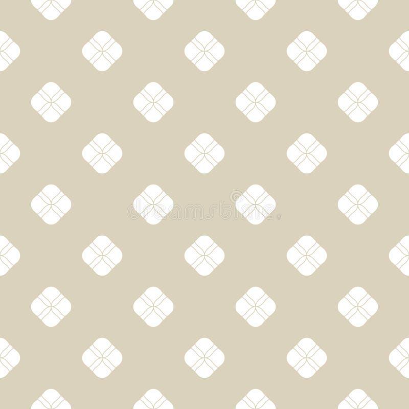 Modelo incons?til floral abstracto de oro Textura minimalista geométrica sutil ilustración del vector
