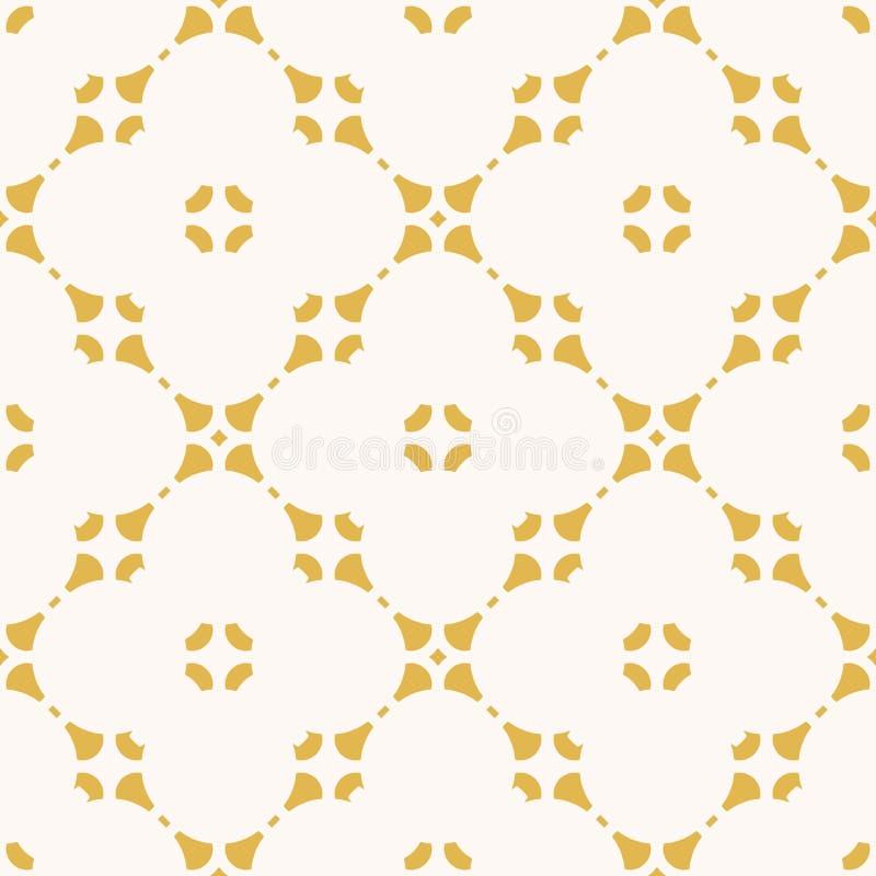 Modelo incons?til floral abstracto del vector Ornamento geom?trico amarillo y blanco stock de ilustración