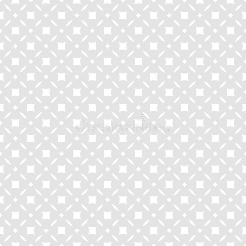 Modelo incons?til floral abstracto sutil Fondo gris y blanco del vector stock de ilustración