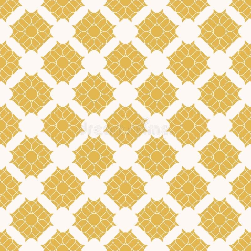 Modelo incons?til floral abstracto Textura amarilla y blanca geométrica elegante libre illustration