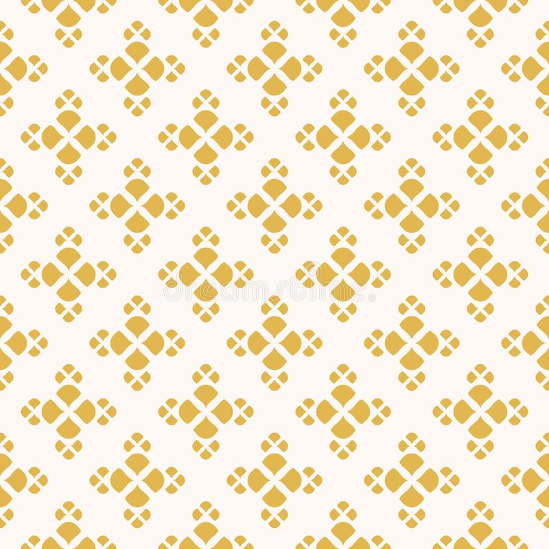 Modelo incons?til floral amarillo y blanco Ornamento abstracto geom?trico del vector libre illustration