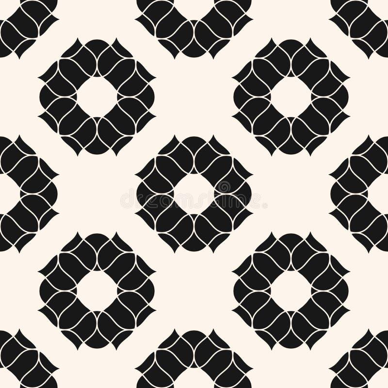 Modelo incons?til floral del vector Textura blanco y negro abstracta con las peonías stock de ilustración