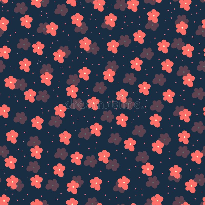 Modelo incons?til floral en fondo oscuro E libre illustration