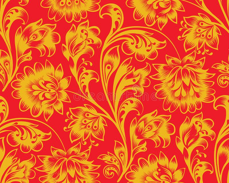 Modelo incons?til floral Ornamento de la flor Fondo ornamental del flourish en estilo ruso popular tradicional fotografía de archivo libre de regalías