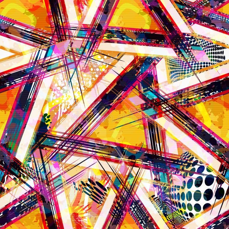 Modelo incons?til geom?trico abstracto brillante en estilo de la pintada ejemplo de la calidad para su dise?o ilustración del vector