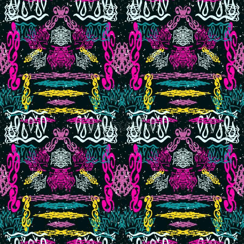 Modelo incons?til geom?trico abstracto brillante en estilo de la pintada ejemplo de la calidad para su dise?o libre illustration