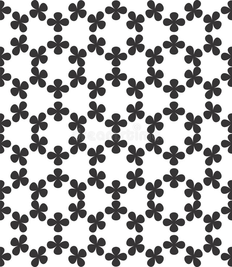 Modelo incons?til geom?trico abstracto Ilustraciones monocrom?ticas minimalistas blancos y negros de la acuarela stock de ilustración