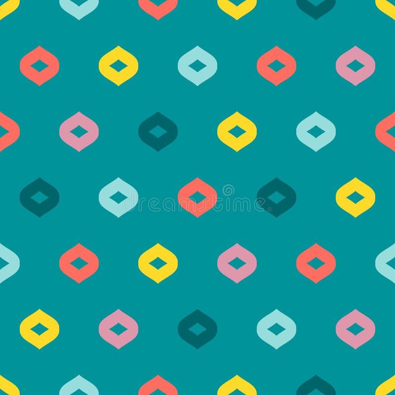 Modelo incons?til geom?trico colorido del vector Textura minimalista abstracta simple ilustración del vector