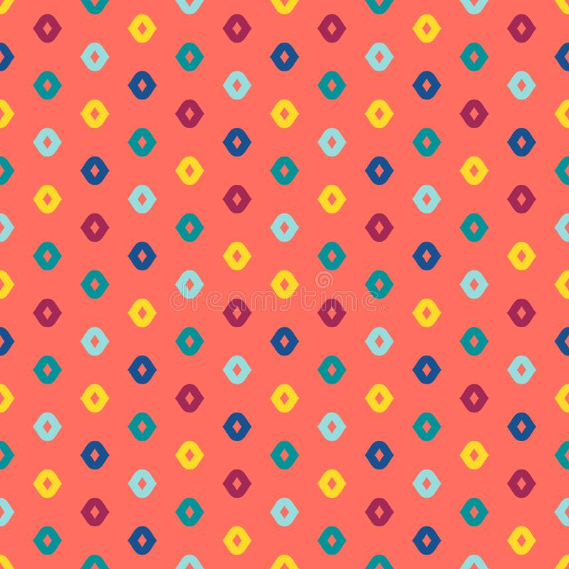 Modelo incons?til geom?trico colorido del vector Textura minimalista punteada simple stock de ilustración