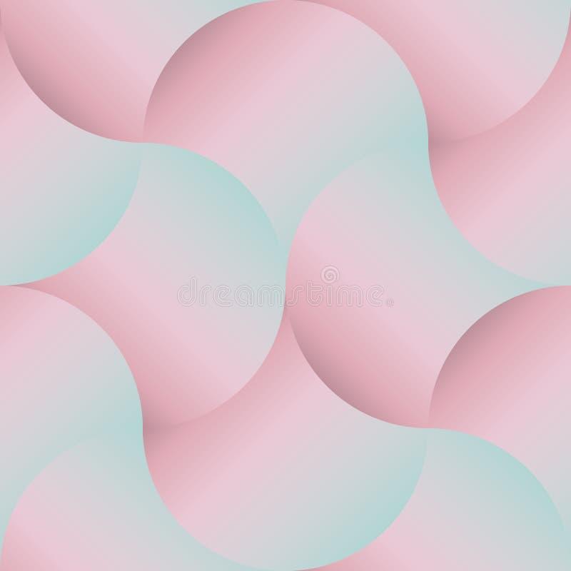 Modelo incons?til geom?trico del vector de ondas ilustración del vector