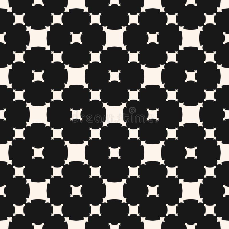 Modelo incons?til geom?trico del vector Ornamento blanco y negro abstracto simple libre illustration
