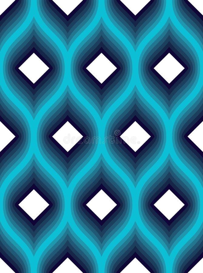 Modelo incons?til geom?trico, fondo abstracto del embaldosado, ejemplo sin fin del papel pintado de la repetici?n del vector La c libre illustration